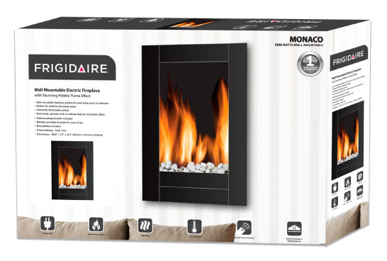 Nuvatek  - Monaco Wall Mount Electric Fireplace by Frigidaire. Instruction manual available for download.