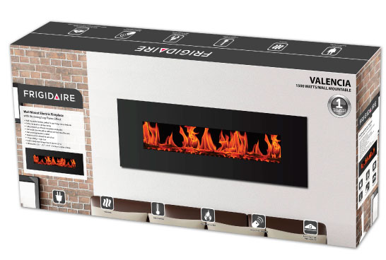 Nuvatek - Valencia Wall Mount Electric Fireplace by Frigidaire. Instruction manual available for download.